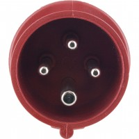 416P6S Pin And Sleeve Plug 16 Amp 3 Pole 4 Wire Front