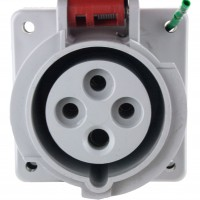 416R6W Pin And Sleeve Receptacle 16 Amp 3 Pole 4 Wire Front