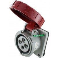 416R6W Pin And Sleeve Receptacle 16 Amp 3 Pole 4 Wire Open