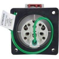 416R6W Pin And Sleeve Receptacle 16 Amp 3 Pole 4 Wire Rear