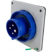 420B9W Pin And Sleeve Inlet 20 Amp 3 Pole 4 Wire