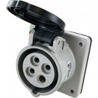 420R5S Pin And Sleeve Receptacle 20 Amp 3 Pole 4 Wire Open