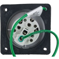 420R5S Pin And Sleeve Receptacle 20 Amp 3 Pole 4 Wire Rear