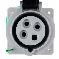 420R5W Pin And Sleeve Receptacle 20 Amp 3 Pole 4 Wire Front