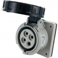 420R5W Pin And Sleeve Receptacle 20 Amp 3 Pole 4 Wire Open