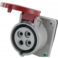 420R7S Pin And Sleeve Receptacle 20 Amp 3 Pole 4 Wire Open