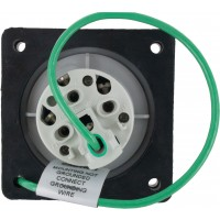 420R7S Pin And Sleeve Receptacle 20 Amp 3 Pole 4 Wire Rear