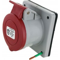 420R7S Pin And Sleeve Receptacle 20 Amp 3 Pole 4 Wire