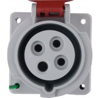 420R7W Pin And Sleeve Receptacle 20 Amp 3 Pole 4 Wire Front