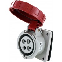 420R7W Pin And Sleeve Receptacle 20 Amp 3 Pole 4 Wire Open