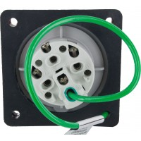 420R7W Pin And Sleeve Receptacle 20 Amp 3 Pole 4 Wire Rear