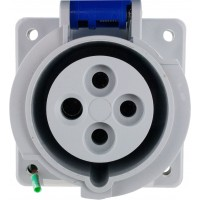 420R9W Pin And Sleeve Receptacle 20 Amp 3 Pole 4 Wire Front