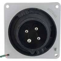 430B5W Pin And Sleeve Inlet 30 Amp 3 Pole 4 Wire Front
