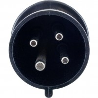430P5S Pin And Sleeve Plug 30 Amp 3 Pole 4 Wire Front