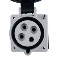 430R5S Pin And Sleeve Receptacle 30 Amp 3 Pole 4 Wire Front