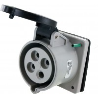 430R5S Pin And Sleeve Receptacle 30 Amp 3 Pole 4 Wire Open