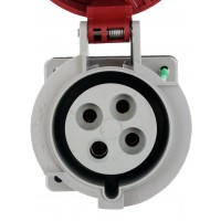 430R7W Pin And Sleeve Receptacle 30 Amp 3 Pole 4 Wire Front