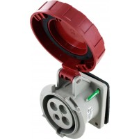 430R7W Pin And Sleeve Receptacle 30 Amp 3 Pole 4 Wire Open