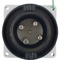 460B5W Pin And Sleeve Inlet 60 Amp 3 Pole 4 Wire Front