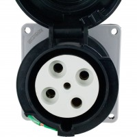 460R5W Pin And Sleeve Receptacle 60 Amp 3 Pole 4 Wire Front