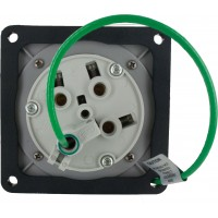 460R5W Pin And Sleeve Receptacle 60 Amp 3 Pole 4 Wire Rear