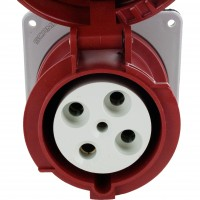460R7W Pin And Sleeve Receptacle 60 Amp 3 Pole 4 Wire Front