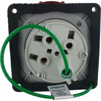 460R7W Pin And Sleeve Receptacle 60 Amp 3 Pole 4 Wire Rear