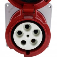 5100R7W Pin And Sleeve Receptacle 100 Amp 4 Pole 5 Wire Front
