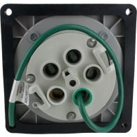 5100R7W Pin And Sleeve Receptacle 100 Amp 4 Pole 5 Wire Rear