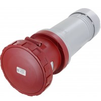 5125C6W Pin And Sleeve Connector 125 Amp 4 Pole 5 Wire Watertight Red