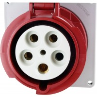Scame Pin And Sleeve Receptacle 125 Amp 4 Pole 5 Wire Front