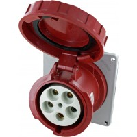 Scame Pin And Sleeve Receptacle 125 Amp 4 Pole 5 Wire Open