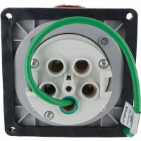 Scame Pin And Sleeve Receptacle 125 Amp 4 Pole 5 Wire Rear