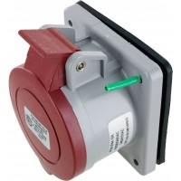 516R6S Pin And Sleeve Receptacle 16 Amp 4 Pole 5 Wire