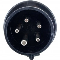 520P5S Pin And Sleeve Plug 20 Amp 4 Pole 5 Wire Front