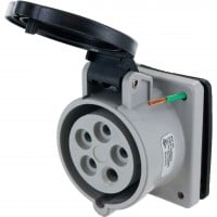 520R5S Pin And Sleeve Receptacle 20 Amp 4 Pole 5 Wire Open