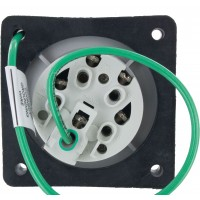 520R5S Pin And Sleeve Receptacle 20 Amp 4 Pole 5 Wire Rear