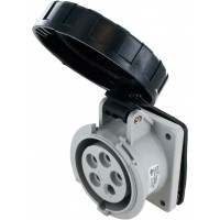 520R5W Pin And Sleeve Receptacle 20 Amp 4 Pole 5 Wire Open