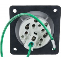 520R5W Pin And Sleeve Receptacle 20 Amp 4 Pole 5 Wire Rear