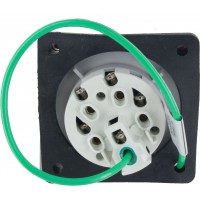 520R7W Pin And Sleeve Receptacle 20 Amp 4 Pole 5 Wire Rear