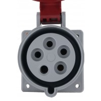 530R7S Pin And Sleeve Receptacle 30 Amp 4 Pole 5 Wire Front