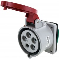 530R7S Pin And Sleeve Receptacle 30 Amp 4 Pole 5 Wire Open