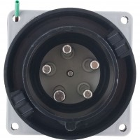 560B5W Pin And Sleeve Inlet 60 Amp 4 Pole 5 Wire Front