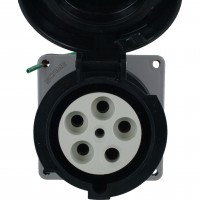 560R5W Pin And Sleeve Receptacle 60 Amp 4 Pole 5 Wire Front
