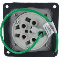 560R9W Pin And Sleeve Receptacle 60 Amp 4 Pole 5 Wire Rear