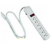 6-WAY OUTLET STRIP/SURGE PROTECTOR 14/3 SJT, 4.5FT