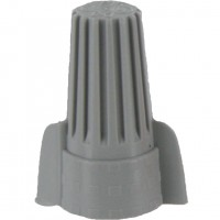 Wing-Nutz Screw-On Wire Termination Connectors 18-8 AWG Gray