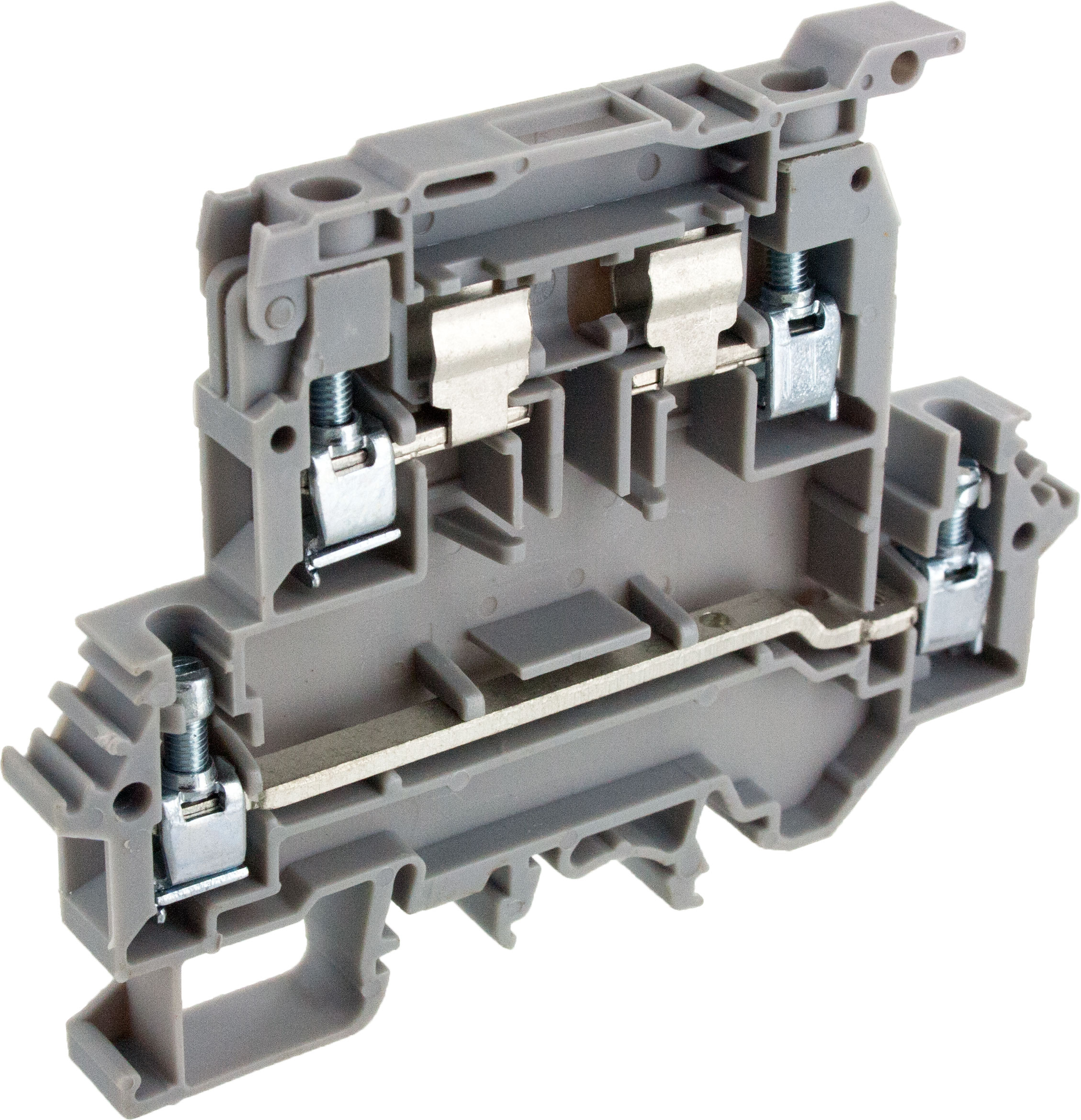 Gray Double Level Fuse Terminal Block Ddfl4u Elecdirect Cole Hersee Heavy Duty Spdt Momentary Toggle Switch 5502155021bx
