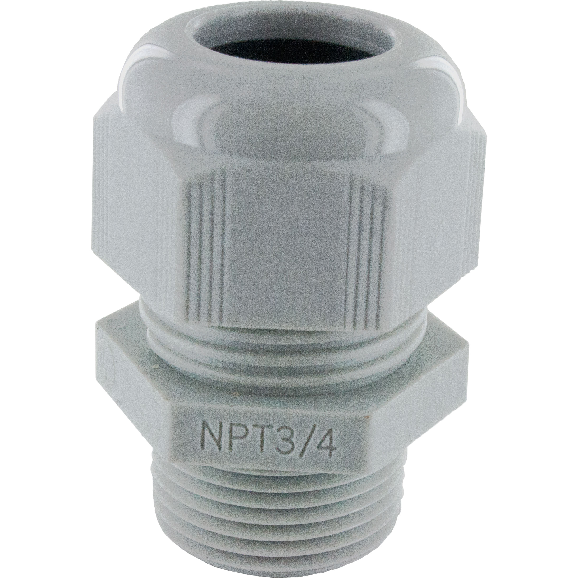 Nylon Dome Cap Cable Gland 3 4 Npt 51 71 Gray Elecdirect And Parts Wiring Switches Toggle Switch 20 Amp 35 Pollak