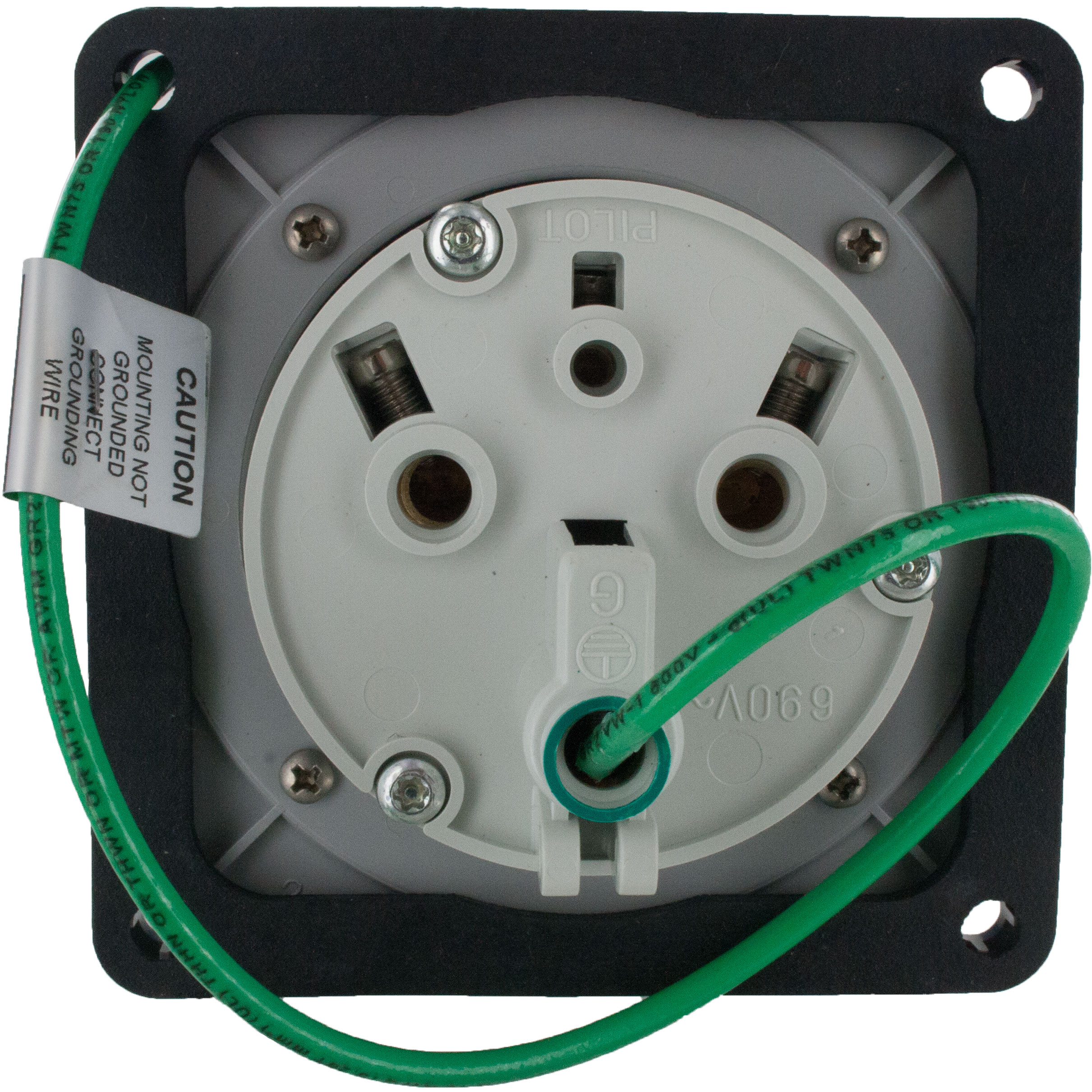 363R6W Pin And Sleeve Receptacle 63 Amp 2 Pole 3 Wire | ElecDirect